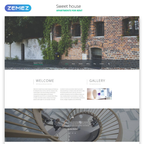 Sweet House - Responsive Website Template