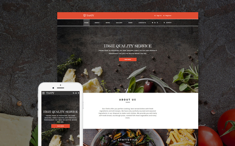 Tasty - Cafe and Restaurant Website Template New Screenshots BIG