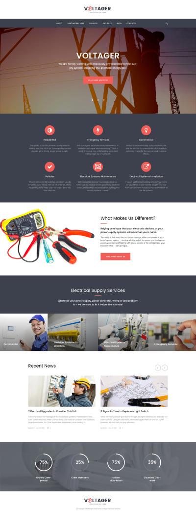 Responsive Tema De WordPress #58892 para Sitio de  para Sitio de Iluminación y Electricidad