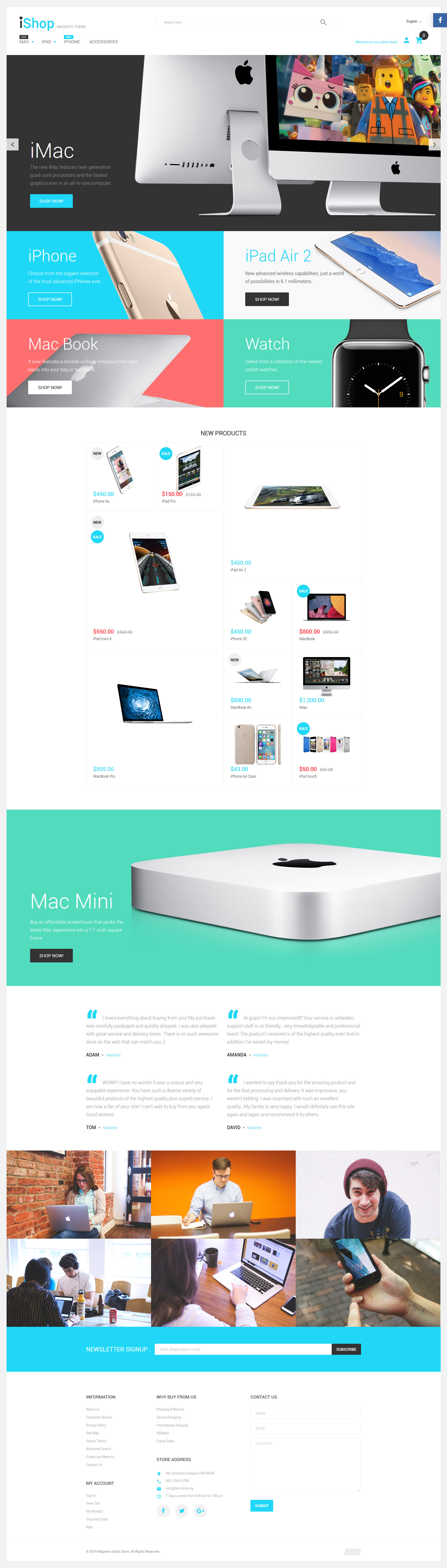 "Tema Magento ""iShop - Electronic Devices"" #58834"