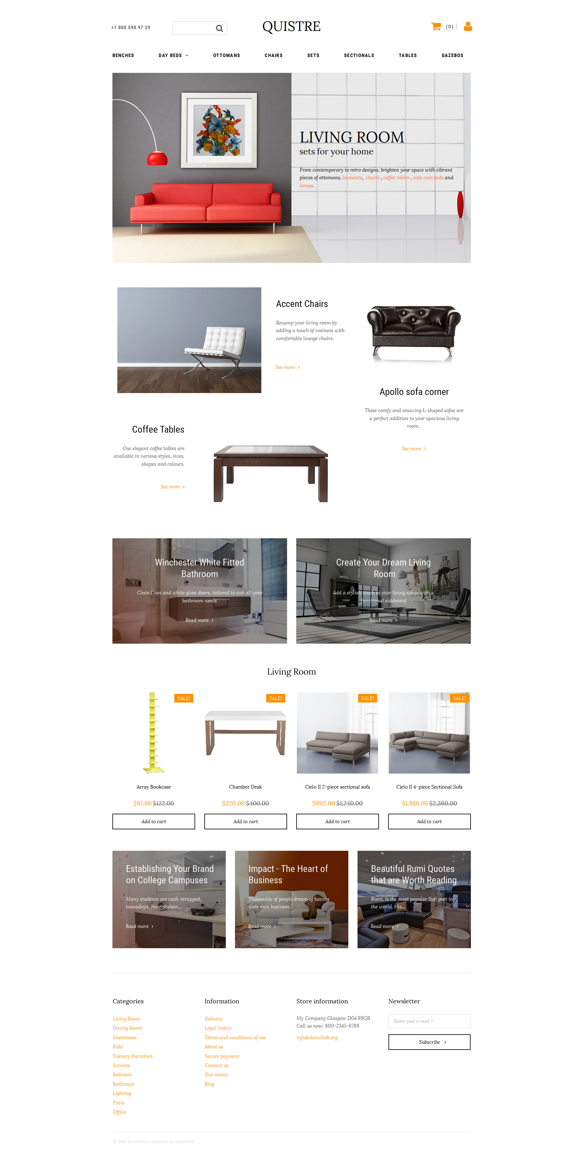 Sito ecommerce template aprire negozio online creare for Siti di arredamenti