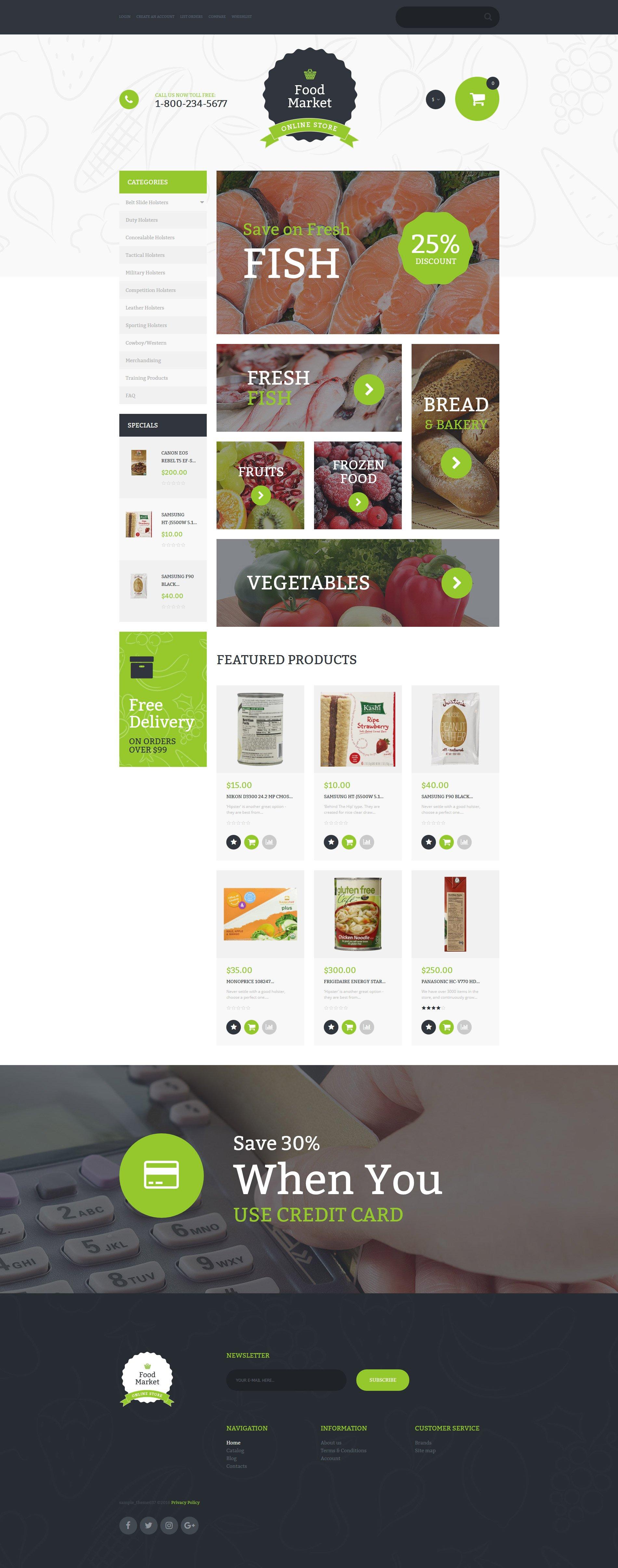 """Template VirtueMart #58876 """"Food Market"""" - screenshot"""