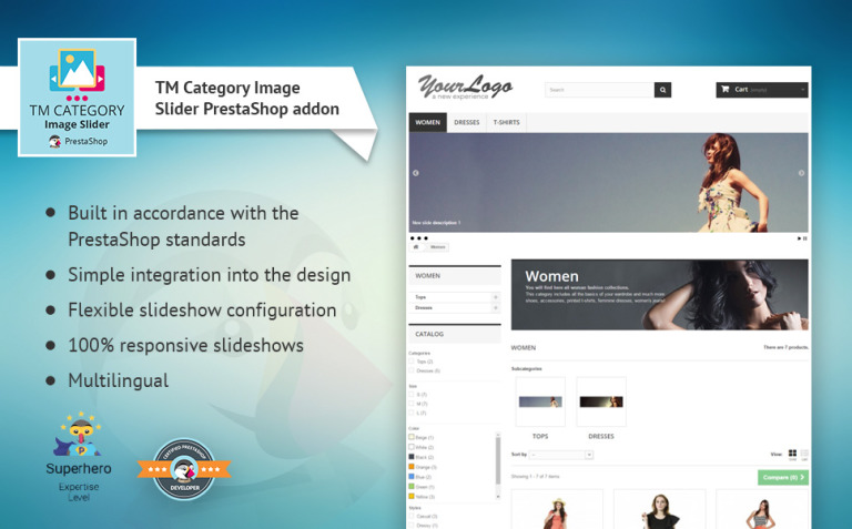 TM Category Image Slider PrestaShop Module New Screenshots BIG