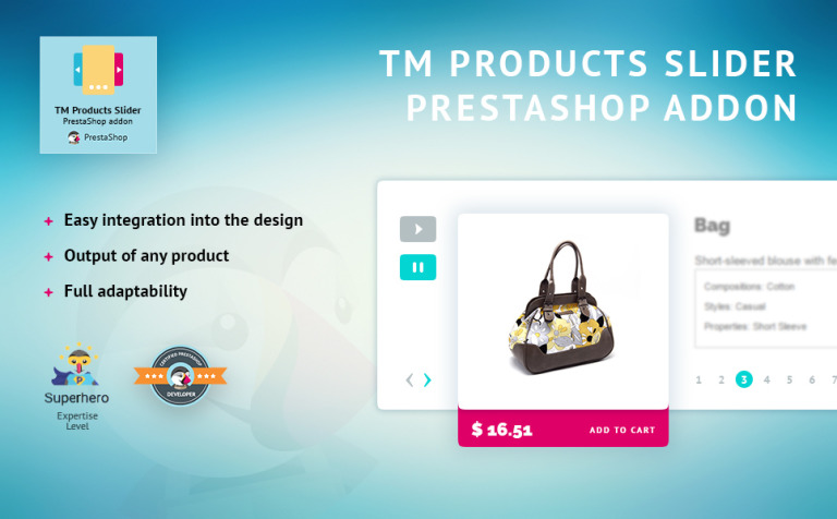 TM Products Slider PrestaShop Module New Screenshots BIG