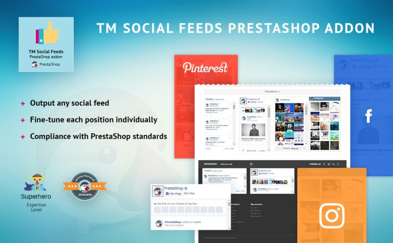 TM Social Feeds PrestaShop Module New Screenshots BIG