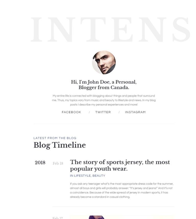 Website Vorlage #58885 für Persönliche Seiten