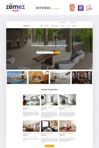 "Website Vorlage namens ""INTENSE Immobilien"" #58887"