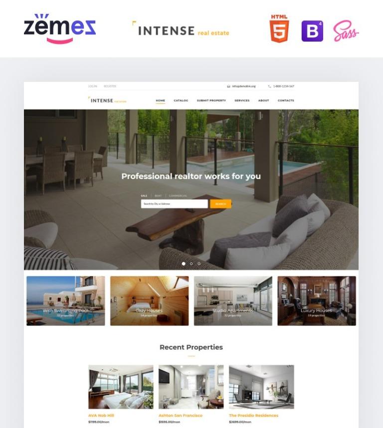 Website Vorlage #58887 für Immobilien