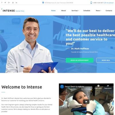 Responsive Website Themes für Medizin- und Gesundheitsprodukte