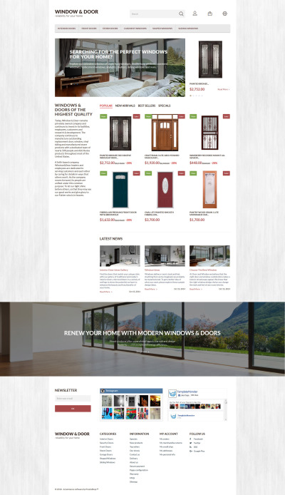 Window Door PrestaShop Theme