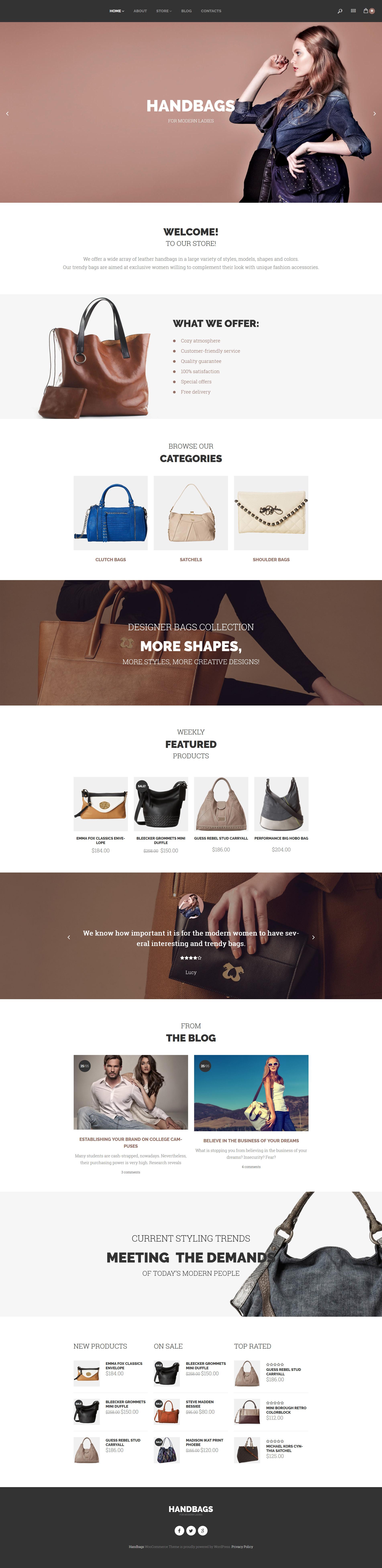"WooCommerce Theme namens ""Handbags"" #58826"