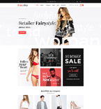 Fashion Website  Template 58907