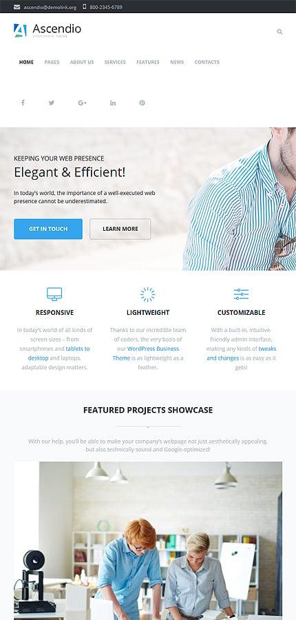 Ascendio - Corporate & Business WordPress Theme 3