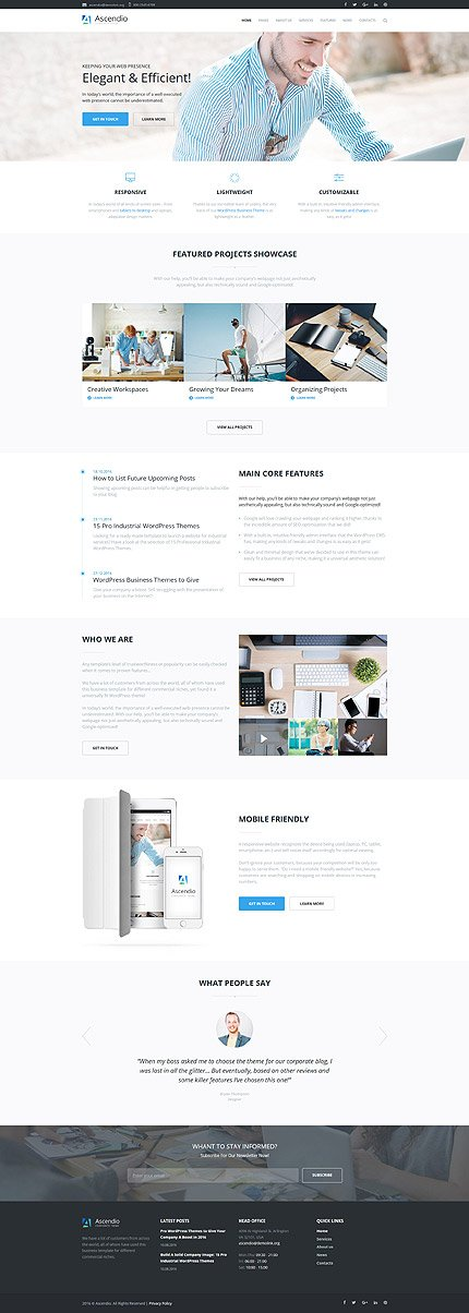 Ascendio - Corporate & Business WordPress Theme 2