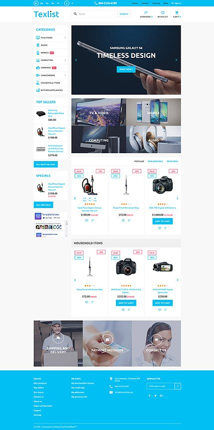 ADOBE Photoshop Template 58930 Home Page Screenshot