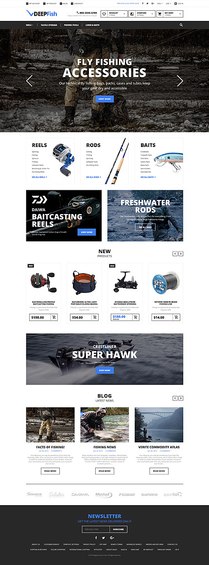 Magento Theme/Template 58934 Main Page Screenshot