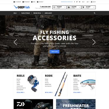Купить Magento тема рыбацкого интернет-магазина - DEEPFish. Купить шаблон #58934 и создать сайт.
