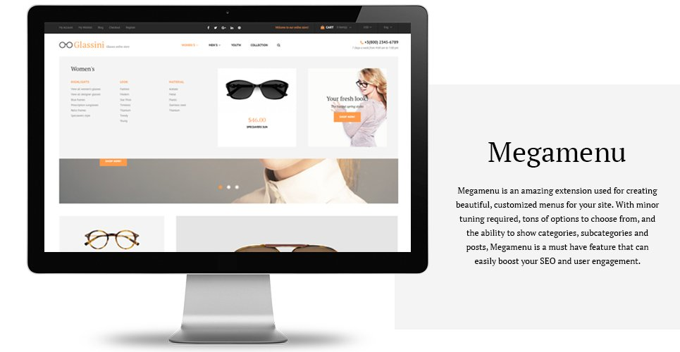 b67a7cd8fb Glassini is a responsive Magento theme made with a soft
