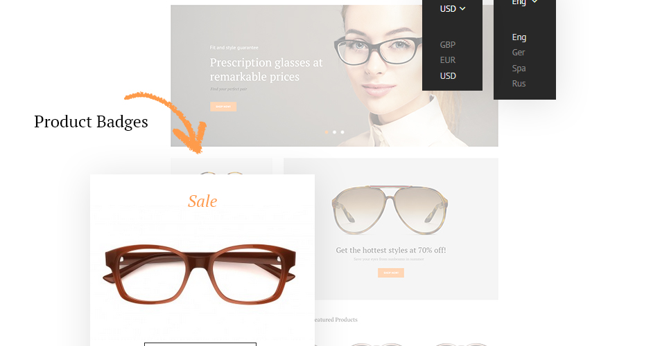 a0e0363e353 Glassini is a responsive Magento theme made with a soft