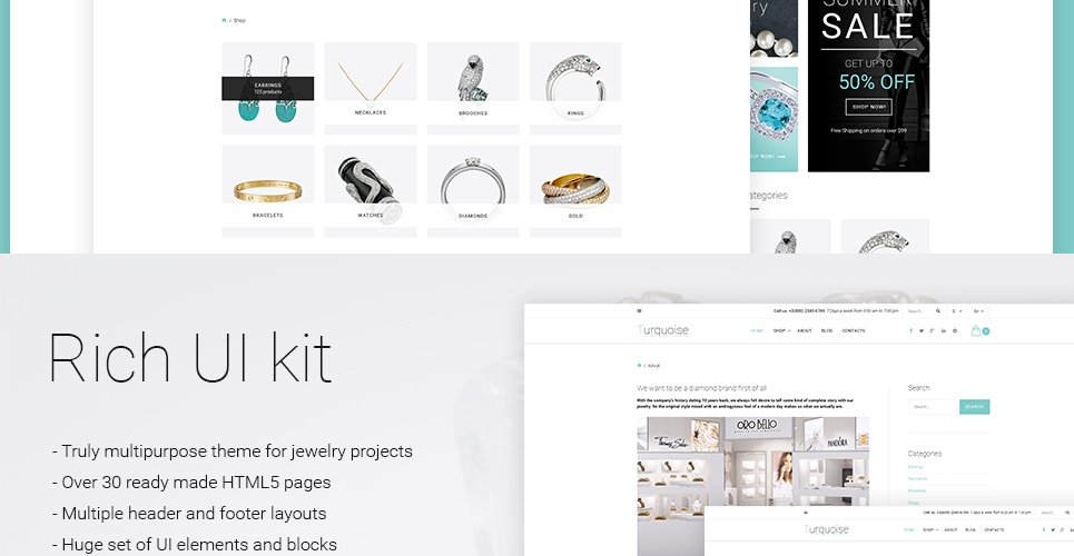 Ready Made Website Templates. jewelry web template. selecting a ...