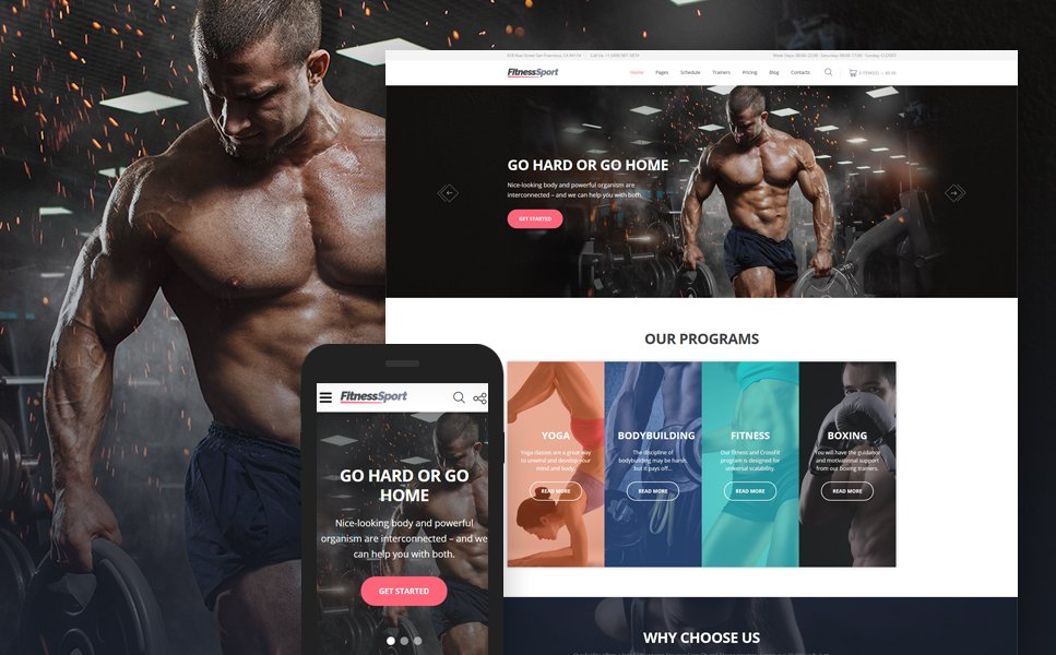 FitnessSport template illustration image