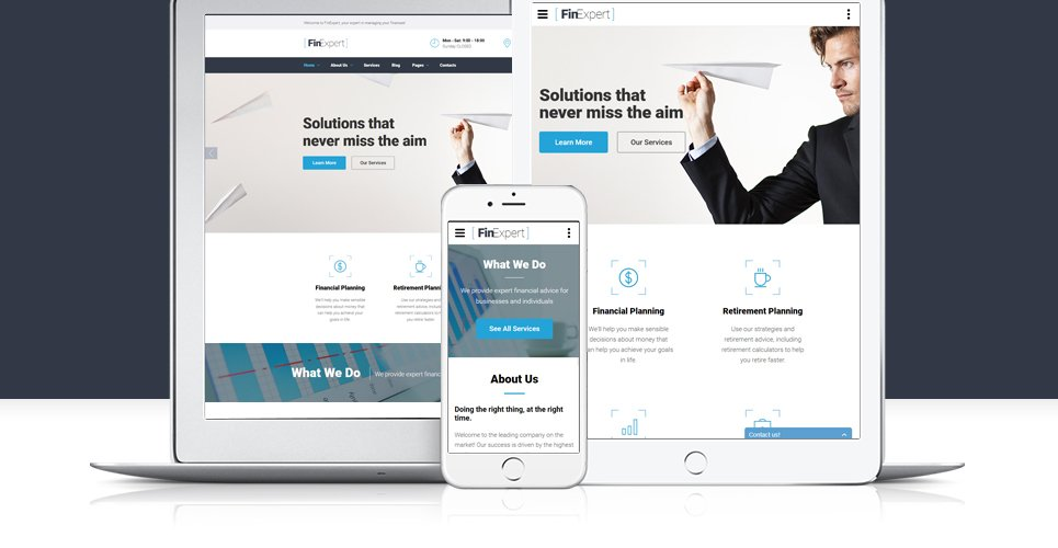 Business Financial Advisor Website Template