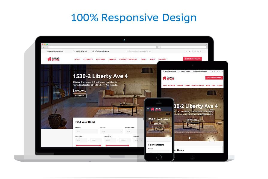 Modèles HTML5 Immobilier #58944