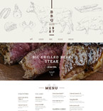 Cafe & Restaurant Website  Template 58947