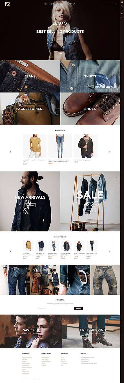 F2 - Fashion Boutique Magento Theme 2