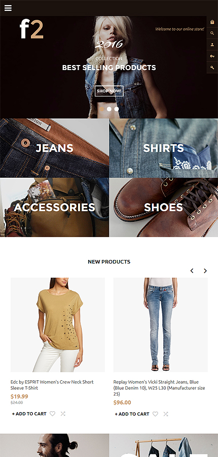 F2 - Fashion Boutique Magento Theme 3