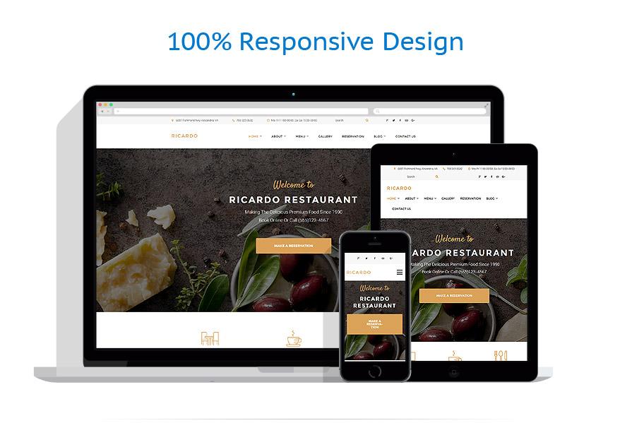 Thèmes WordPress Café et Restaurant #58952
