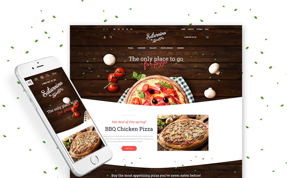 Plantilla Magento ideal pizzería, restaurante, fastfood, catering o ...