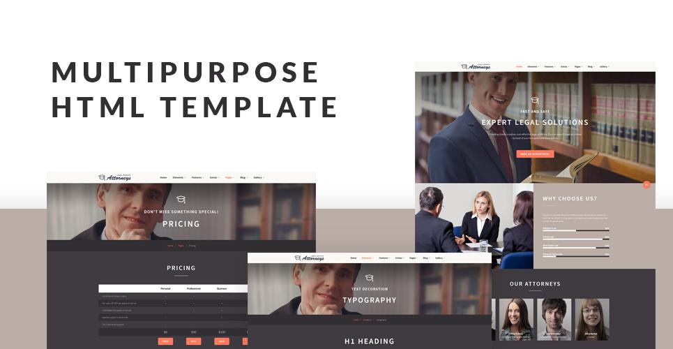 Attorneys Group  Responsive Website Template