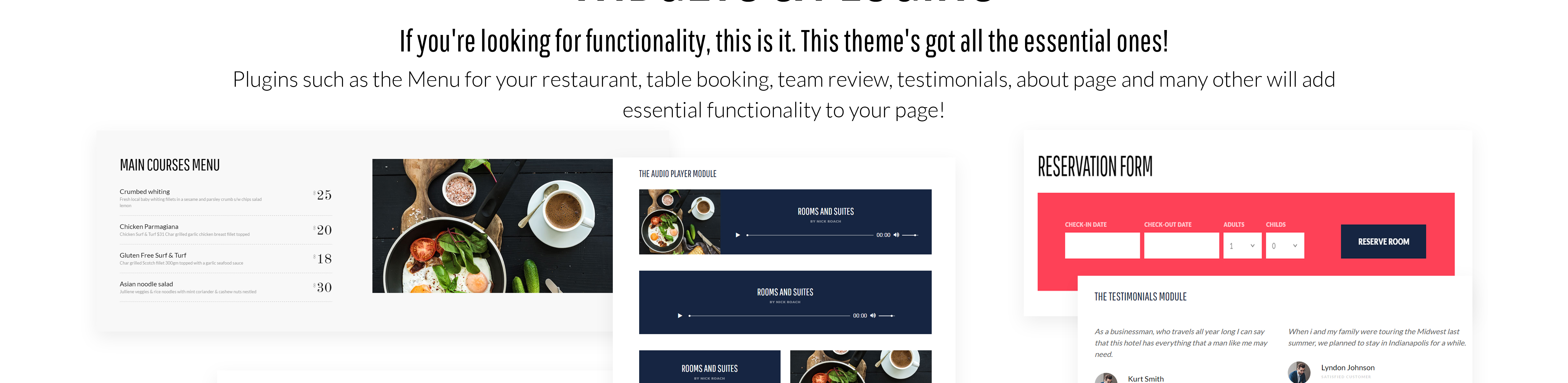 Tema de WordPress #58970 para Sitio de Hoteles