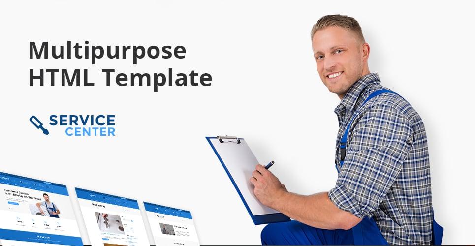 Service Center  Responsive Website Template