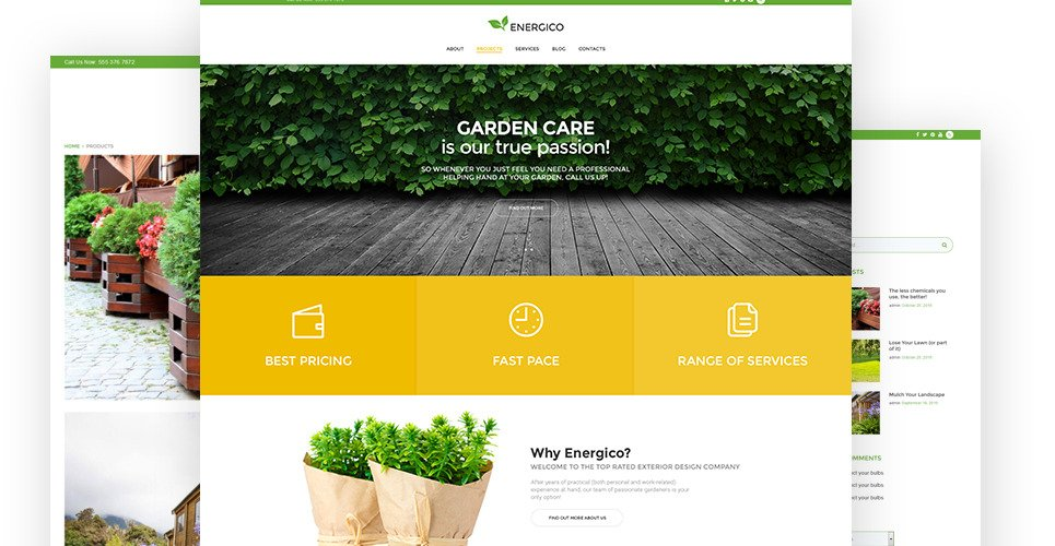 Energico Is A Well Documented And SEO Friendly Gardening WordPress Theme,  Produced For Gardening Websites. If You Want To Be A Step Ahead In Gardening  ...