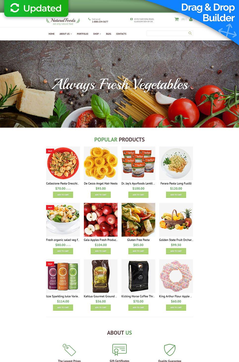 Natural Foods Ecommerce Website Template - image