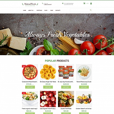 Preview image of Food & Drink MotoCMS Ecommerce Template No. 58994