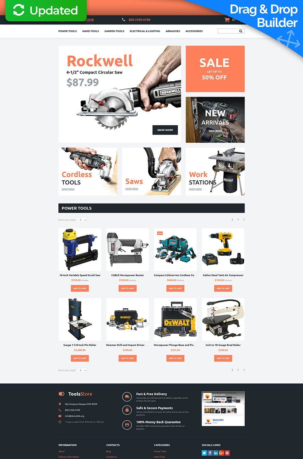 Tools Store Ecommerce Website Template - image