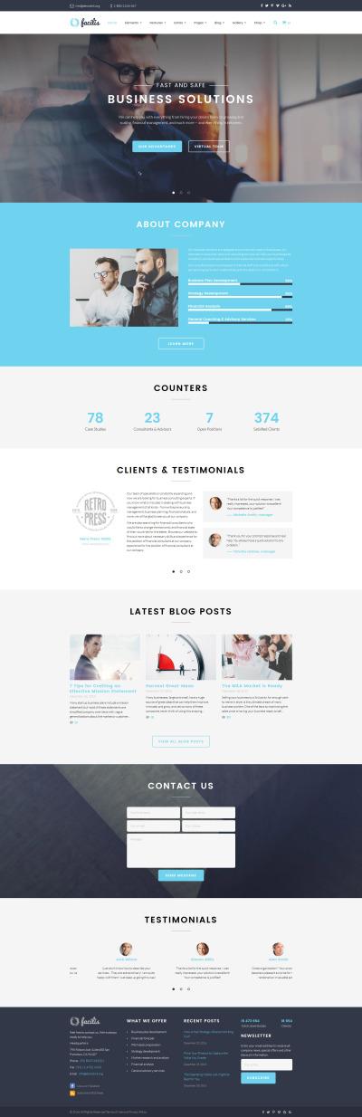 Адаптивний Шаблон сайту на тему бізнес та послуги #58964