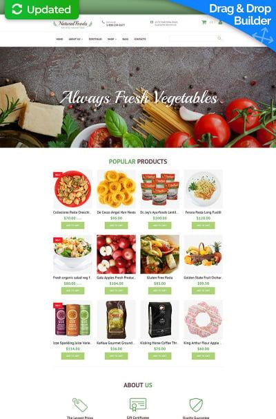 Адаптивный MotoCMS интернет-магазин №58994 на тему магазин еды