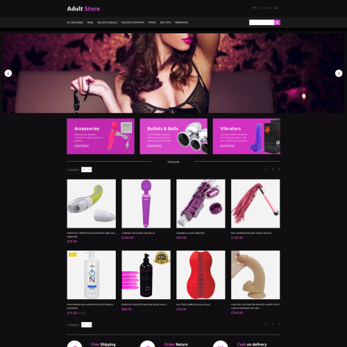 Adult Store - MotoCMS Ecommerce Template based on Bootstrap