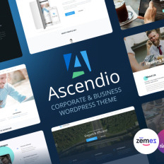 764 best wordpress business themes 2018 templatemonster ascendio corporate business responsive wordpress theme flashek