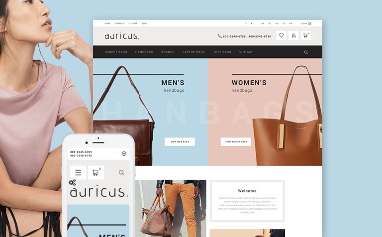 Auricus - Handbag Responsive PrestaShop Theme New Screenshots BIG