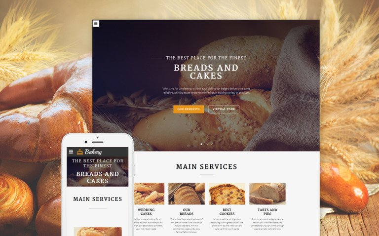 Bakery Multipurpose Website Template New Screenshots BIG
