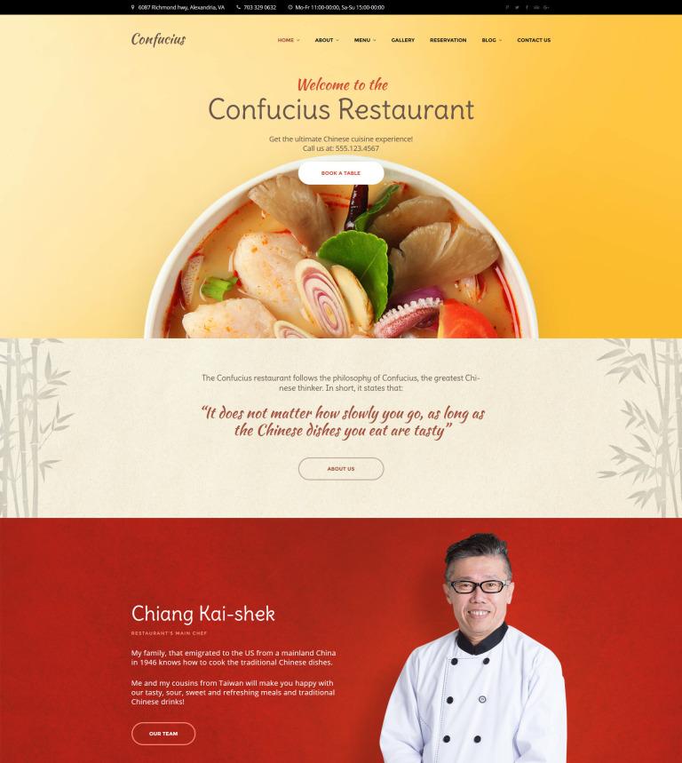 chinese restaurant responsive wordpress theme wordpress theme 58926
