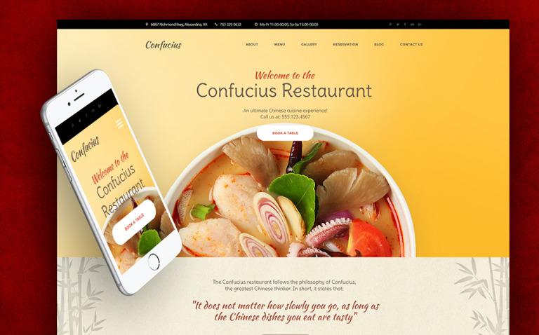 Chinese Restaurant Responsive WordPress Theme New Screenshots BIG