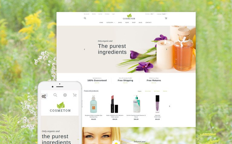 Cosmeton - Skin Care PrestaShop Theme New Screenshots BIG