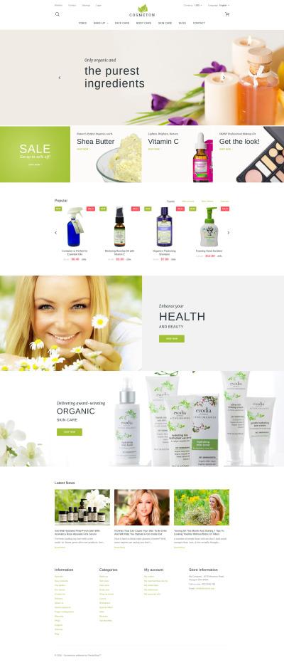 Cosmeton - Skin Care PrestaShop Theme #58968