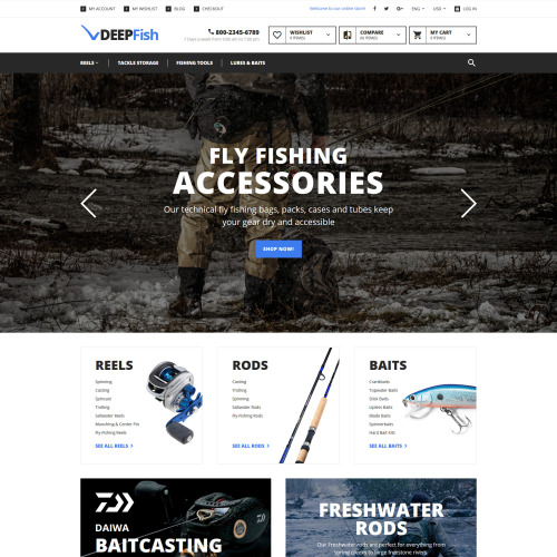 Deepfish - Magento Template based on Bootstrap